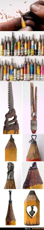 Arte con lapiceros.