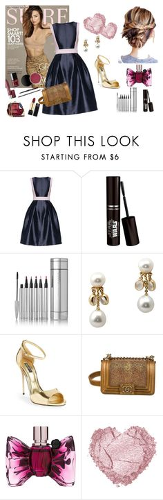 """Act like a Lady"" by lalaelmina ❤ liked on Polyvore featuring Kerr®, Lattori, Assael, Dolce&Gabbana, Chanel and Viktor & Rolf"