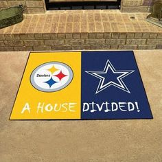 Oriental Rug Pittsburgh Steelers Dallas Cowboys NFL House Divided Rugs