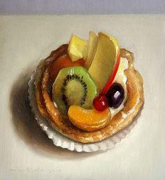 Still life, fruit tart, dessert