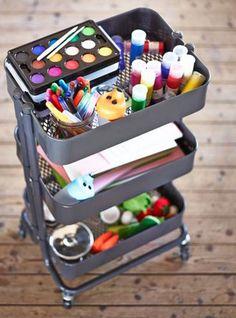 8 Clever Ways To Use IKEA Raskog Cart For Narrow Space space raskog narrow clever Ikea Raskog Cart, Ikea Cart, Office Supply Organization, Craft Organization, Raskog Utility Cart, Office Deco, Art Cart, Kidsroom, Diy For Kids