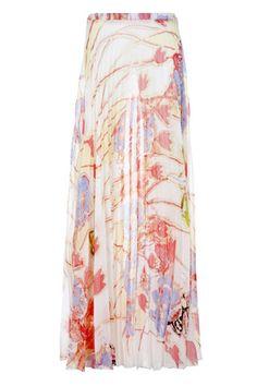 Lleva esta falda larga estampada de Adolfo Domínguez con tu cazadora vaquera.