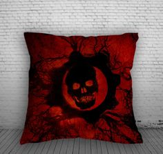 Gears of Wars for Square Pillow Case 16x16 Two Sides, 18x18 Two Sides, 20x20 Two Sides