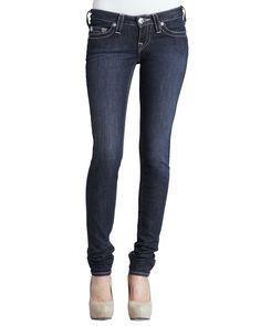True Religion Stella Lonestar Low-Rise Skinny Jeans, Boy's, Size: 26