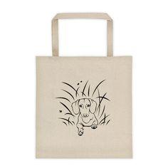 Dachshund Play Grass - Tote Bag - WeeShopyDog