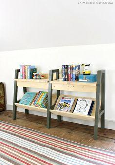 Ana White | Modern Kids Bookrack - DIY Projects