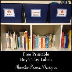 Pamela Renee Designs: Free Printable: Boy's Toy Bin Labels