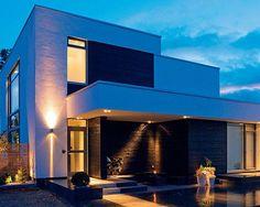 Casas modernas asian inspired modern nordic home 2 Style At Home, Modern Style Homes, Modern Contemporary Homes, Modern House Design, Contemporary Architecture, Architecture Design, Modern Luxury, Villa Design, Luxury Homes Dream Houses
