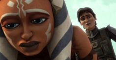 Clone Wars Photo of Ahsoka and Lux - their reactions to Steelas death. Don't Let Me Down, Asoka Tano, Star Wars Clone Wars, Best Shows Ever, Fandoms, Hero, Season 3, Fangirl, Death