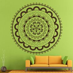Mandala Yoga Wall Decals Indian Pattern Bohemian Art by DecalHouse