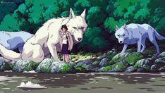 Princes Mononoke, Hayao Miyazaki, Princess Mononoke Wallpaper, Nausicaa, Studio Ghibli Characters, Wolf Images, Forest Creatures, Ghibli Movies, Doodles