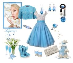 """""""blue.."""" by lumi-21 ❤ liked on Polyvore featuring Monique Lhuillier, Arco, Lord & Taylor, Mystic Light, Calla, Matthew Williamson, Forever New, Thierry Mugler, China Glaze and Bobbi Brown Cosmetics"""