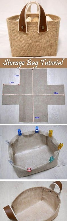 Fabric Box Tutorial Storage Fabric Burlap Box Pattern and Tutorial. Bag Step by step photo tutorial…Storage Fabric Burlap Box Pattern and Tutorial. Bag Step by step photo tutorial… Sewing Hacks, Sewing Tutorials, Sewing Crafts, Sewing Projects, Sewing Patterns, Bag Tutorials, Quilting Patterns, Sewing Ideas, Sewing Tips