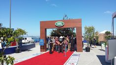 Wood arch for Land Rover VIP event