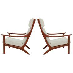 Pair of Danish Easy Chairs Outdoor Furniture Design, Cool Furniture, Modern Furniture, Modern Armchair, Modern Chairs, Modular Sofa Bed, Easy Chairs, Mid-century Modern, Rustic Modern