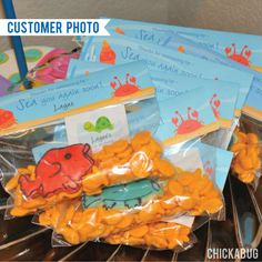 Under The Sea Party Editable Treat Bag Label (INSTANT DOWNLOAD) - All text is editable! Get the DIY file immediately after purchase, add any name or message you'd like and print as many treat bag labels as you'll need!