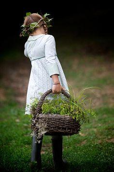 farm, trendi kid, herb, field flower, garden basket