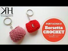 ♡ [Tutorial Uncinetto #14] 2 in 1 || Portachiavi borsetta | Keychains | Crochet ♡ - YouTube