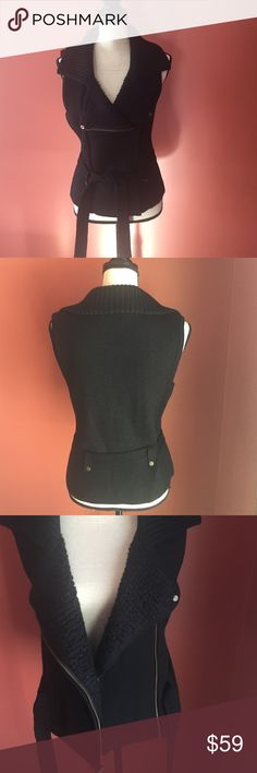"""Loft vest Beautiful vest. Worn once. In great condition. Has zipper in the front. Length is 22.5"""" Shell is made of 51% acrylic and 49% merino wool. Lining is made of 57% acrylic, 21% mohair, 14% nylon and 8% wool. Great quality. LOFT Jackets & Coats Vests"""