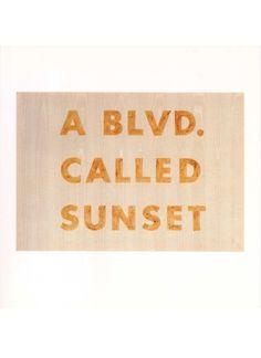 A Blvd Called Sunset | Ed Ruscha (print)