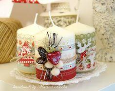 Beautiful Scrap: Новогодний тег, открытка и декор свечей
