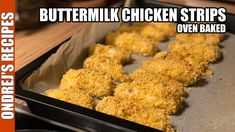 Oven Baked Buttermilk Chicken Strips I always crave crispy chicken when I am trying to eat gluten-free, and when I am counting calories. To make chicken glut. Baked Chicken Strips, Crispy Chicken, Baking Recipes, Diet Recipes, Diet Meals, Baked Buttermilk Chicken, Yogurt Curry, Baked Vegetables, Oven Baked