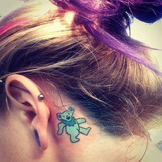 Music Tattoo Designs Grateful Dead Ideas For 2019 Bear Tattoos, Old Tattoos, Badass Tattoos, Body Art Tattoos, Small Tattoos, Tatoos, Pretty Tattoos, Cute Tattoos, Beautiful Tattoos