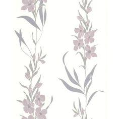 Graham & Brown 56 sq. ft. Jardin Lavender Wallpaper-32-434 - The Home Depot