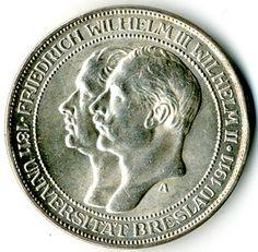 Prussia, kingdom, 3 Mark 1911 University Wroclaw, J 108, i. Rf., vz Dealer Karl Pfankuch & Co Auction Minimum Bid: 45.00 EURO