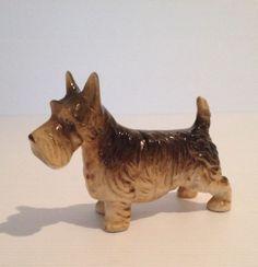 Vintage  Scottish Terrier Wheaten Brown Scotty Dog Figurine Ceramic 38