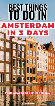 This 3 days in Amsterdam itinerary is jam packed with the best  things to do in Amsterdam weekend city break for first time visitors. This Amsterdam in 3 days guide shows you the best Instagram spots, brunch cafe and cools places to visit in the capital city of Netherlands like the red lights district. This is the ultimate Amsterdam bucket lists guide with  more than just the top 10 things to do in Amsterdam. #Amsterdam #citybreak #europetravel #Amsterdamtraveltip