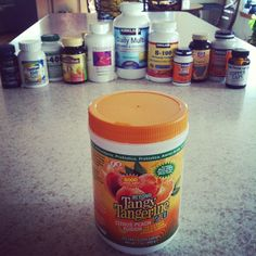 @Kristen Johnson Finally cleaning out the vitamin cupboard. One canister to rule them all! Love, love, love #Youngevity #BTT #TangyTangerine #takeapictuesday