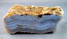 Large Raw / Rough Blue Lace Agate with one by Heavenlyearthgifts, $35.00