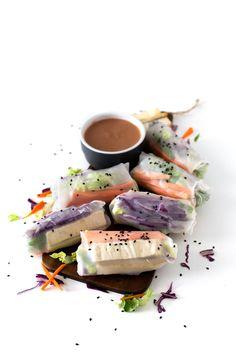 Rollitos vietnamitas - Los rollitos vietnamitas son muy refrescantes y fáciles de preparar. Podéis usar vuestras verduras, ingredientes o salsas preferidas, ¡siempre están ricos!
