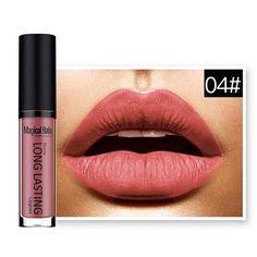 Magical Halo Long Lasting Waterproof Liquid Lipstick 19 Colours Liquid Lipstick Bright Cosmetic Makeup Lips