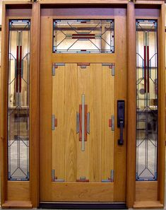 Frank Lloyd Wright -art deco door.