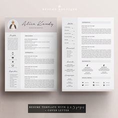 The Modern Resume Cv Design Creative Cv Resume Template Ms Word & Pages Modern Cv .