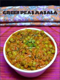 This Restaurantstyle Green peas Masala is myfavouriteside dish for Roti, parathas and Ricevariet...