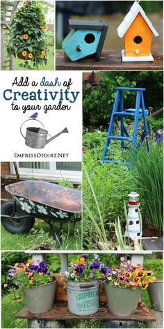 Add a dash of creativity to your garden with garden art and decor! Take ideas home to your garden. Garden, ideas. pation, backyard, diy, vegetable, flower, herb, container, pallet, cottage, secret, outdoor, cool, for beginners, indoor, balcony, creative, country, countyard, veggie, cheap, design, lanscape, decking, home, decoration, beautifull, terrace, plants, house. #herbgardenforbeginners #deckdesigner #gardenart #gardenforbeginnersbackyards