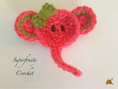 crochet elephant appliqué. Toot - A 'lil' something on a Saturday morning Superfruity Crochet