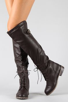 Lug-16 Lace Up Military Combat Knee High Boot $32.50