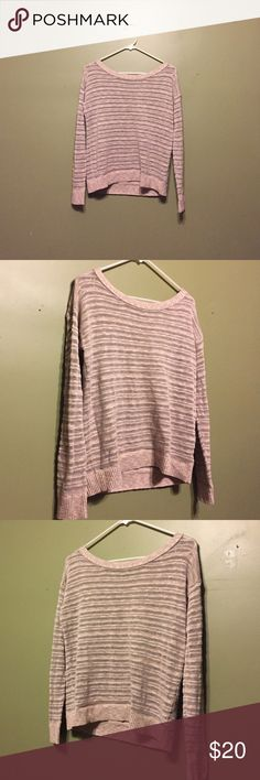 American Eagle Tan Light Sweater American Eagle Tan Light Sweater. Subtle sheer/knot stripes. Lightweight, good for layering. Great condition. Size small. American Eagle Outfitters Sweaters Crew & Scoop Necks