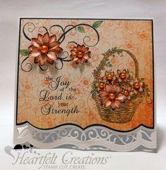 Heartfelt Creations | Joy Of The Lord Fleur Card
