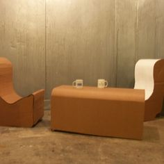 Incredible Cardboard - How To Make a Cardboard Coffee Table With Chairs