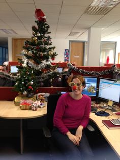 Is that Rudolph? No, it's Sinead, one of our Order Analyst team members getting in the holiday spirit at @VMware Cork in Ireland. #VMwareCareers