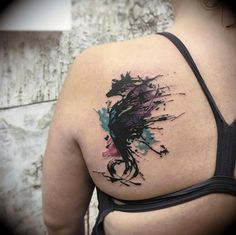 Abstract seahorse by Chari Richardson