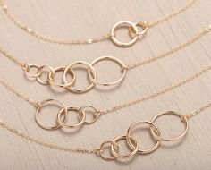Personalized UNITY LINK Necklace 14k Gold Fill von LayeredAndLong