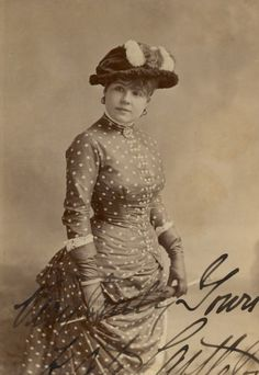 I'll be damned - I didn't think polka dots were used in the victorian era - I stand corrected!! 1885 polka dot dress