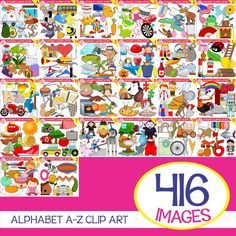 This Huge Bundle has 416 Images!! Included are 208 color images and 208 black & white. You can create a lot with this set and will be very useful for your projects. You may use the Clip Art for personal or commercial use.  alphabet | alphabet clipart | phonics | Clipart|