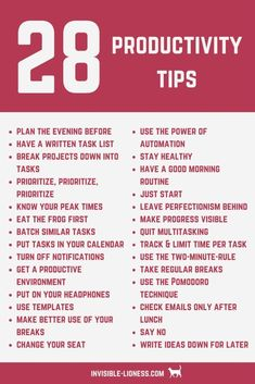 Need some productivity tips? Check out this list of 28 productivity tips that will help you increase your productivity! You want to get stuff done and increase productivity? Learn how to do that here - including 28 actionable productivity tips! Productivity Hacks, Increase Productivity, Time Management Strategies, Time Management Quotes, Importance Of Time Management, Productive Things To Do, Habits Of Successful People, Self Care Activities, Self Improvement Tips